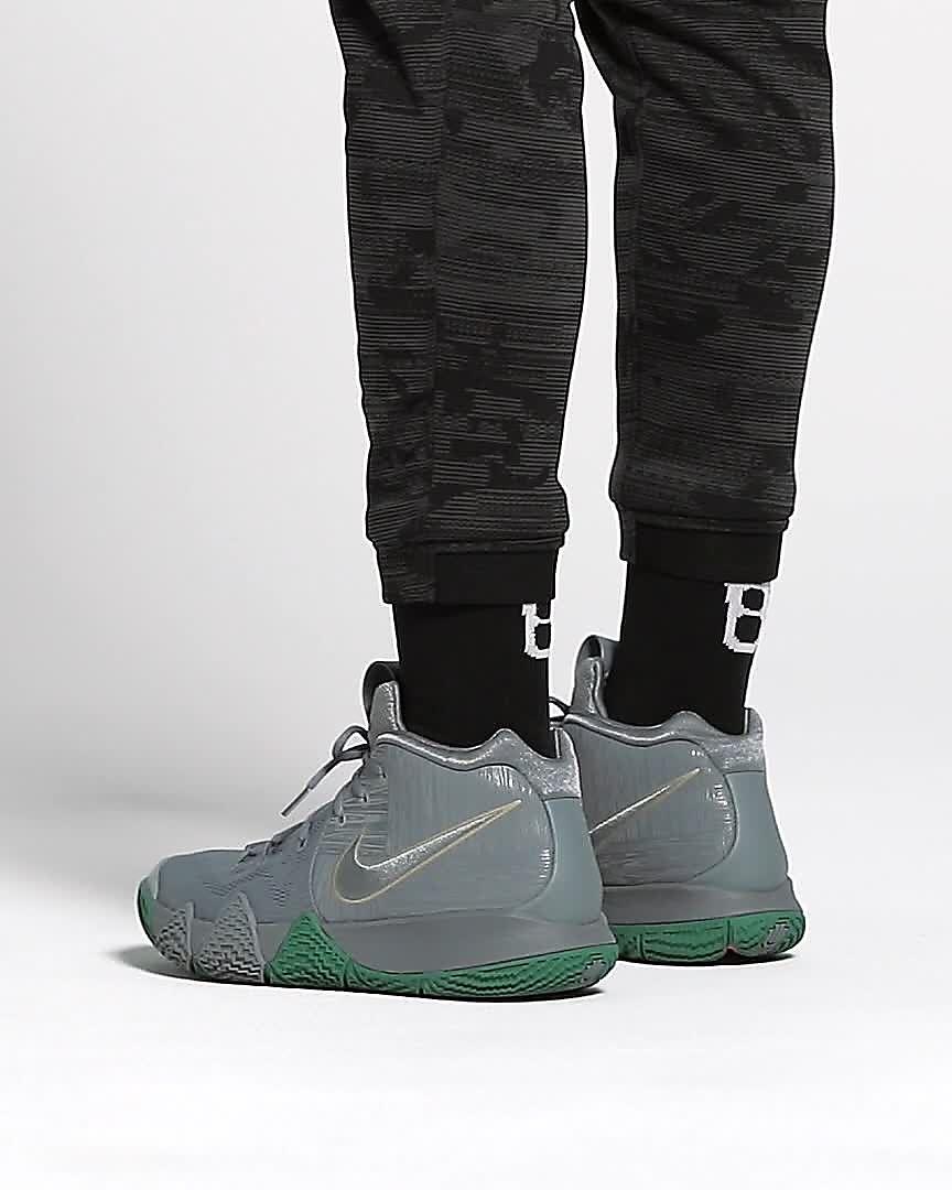6f6f08c3dbd Nike Kyrie 4 Black Green Red Men s Basketball Shoes