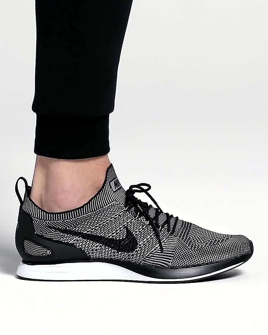 AIR ZOOM MARIAH FLYKNIT RACER - Sneaker low - black/white/dark grey