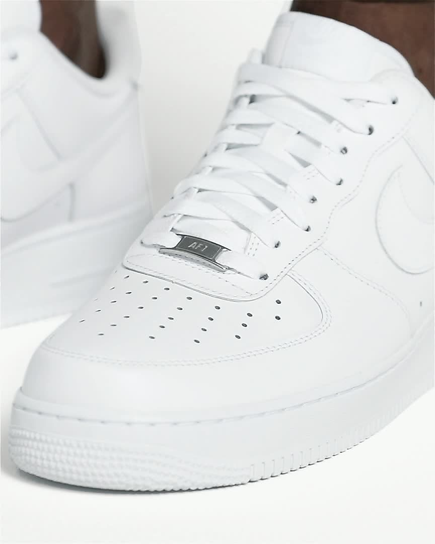 lace up in factory authentic great deals 2017 Nike Air Force 1 '07 Triple White Men's Shoe