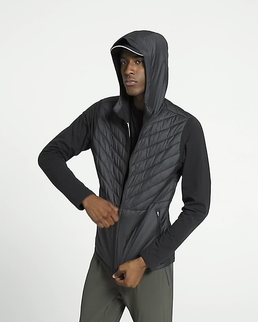 Veste de running à capuche Nike AeroLayer pour Homme